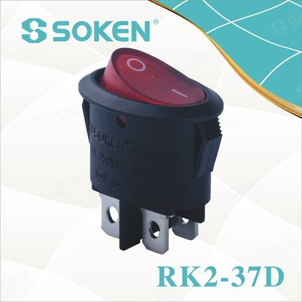 Illuminated Spst Oval Rocker Switch