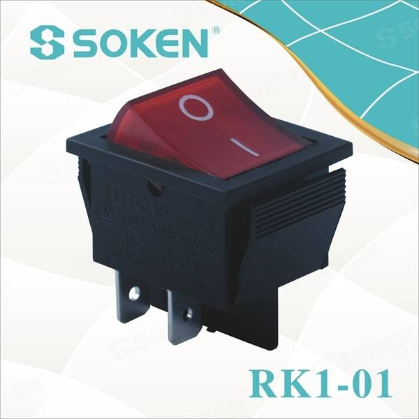 Illuminated on off Rocker Switch