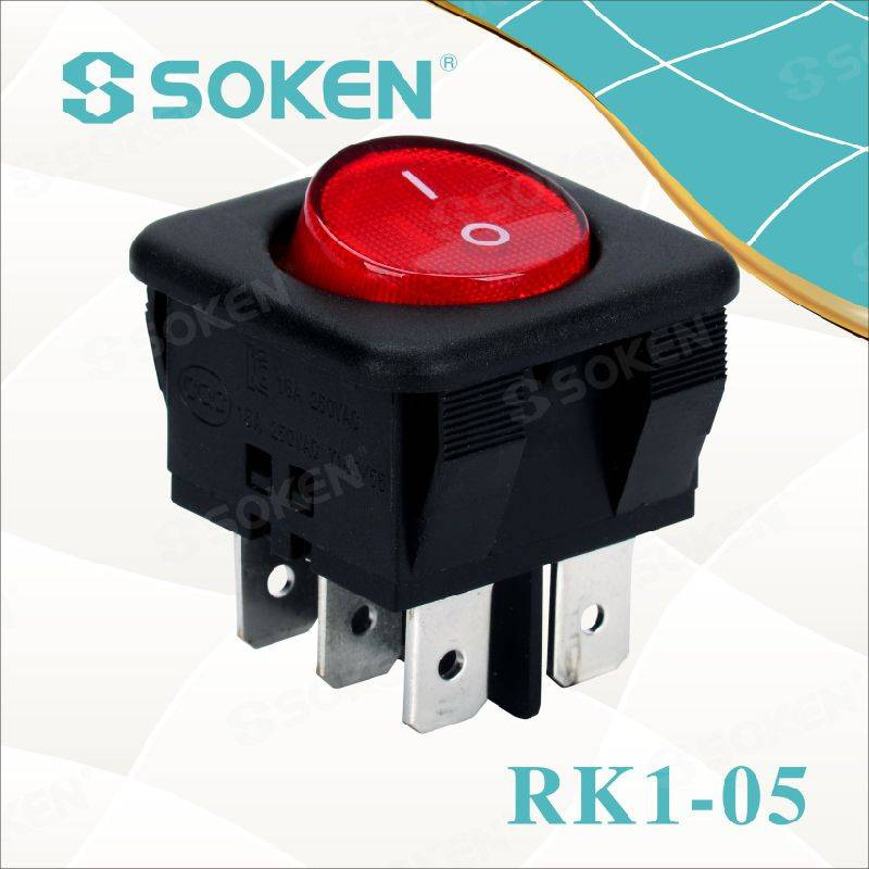 Lighted on off Rocker Switch on on