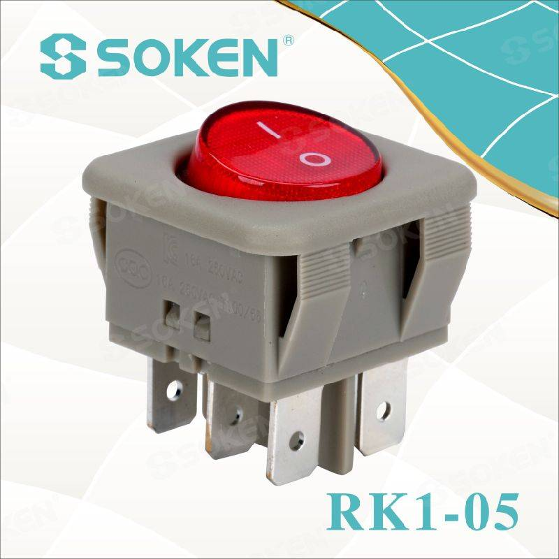 Lighted on off Rocker Switch on-on