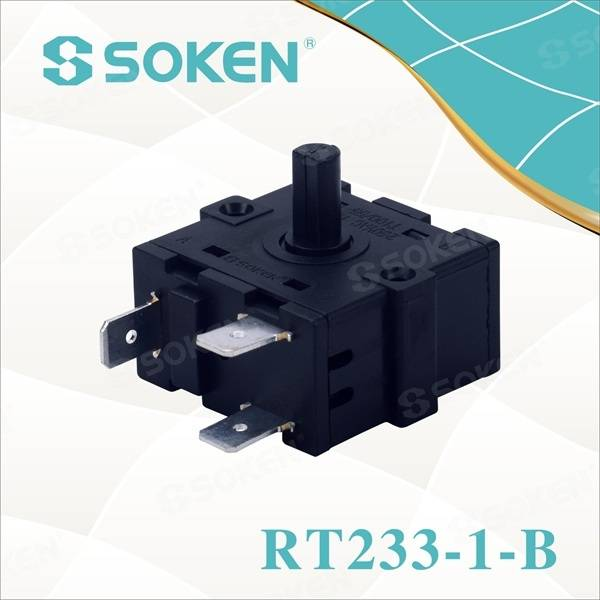 Nylon Rotary Switch with 4 Positions (RT233-1-B)