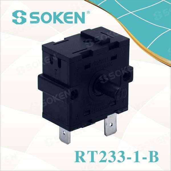 Nylon Rotary Switch med 4 positioner (RT233-1-B)