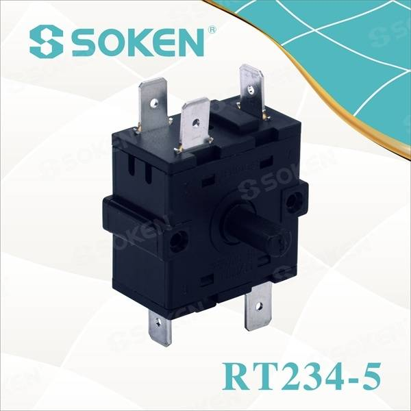 Nylon Rotary Switch med 4 positioner (RT234-5)