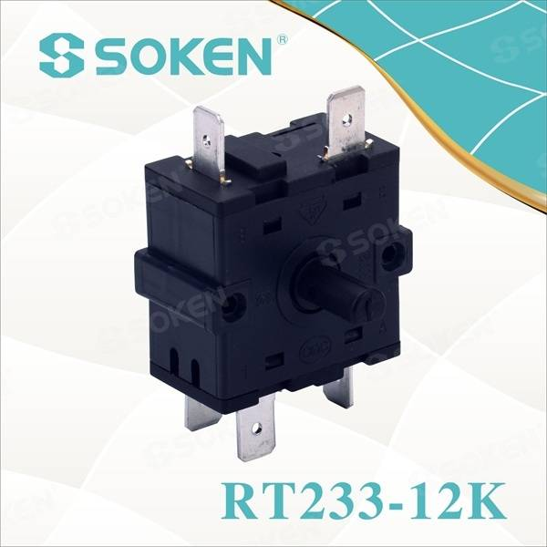 Nylon Rotary Switch with 7 Positions (RT233-12K)