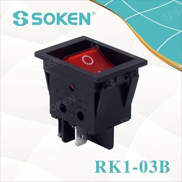 China Cheap price Soken Brand Juicer 8 Position Rotary Selector Switch 6(4)a 250v T85 Rt634-7
