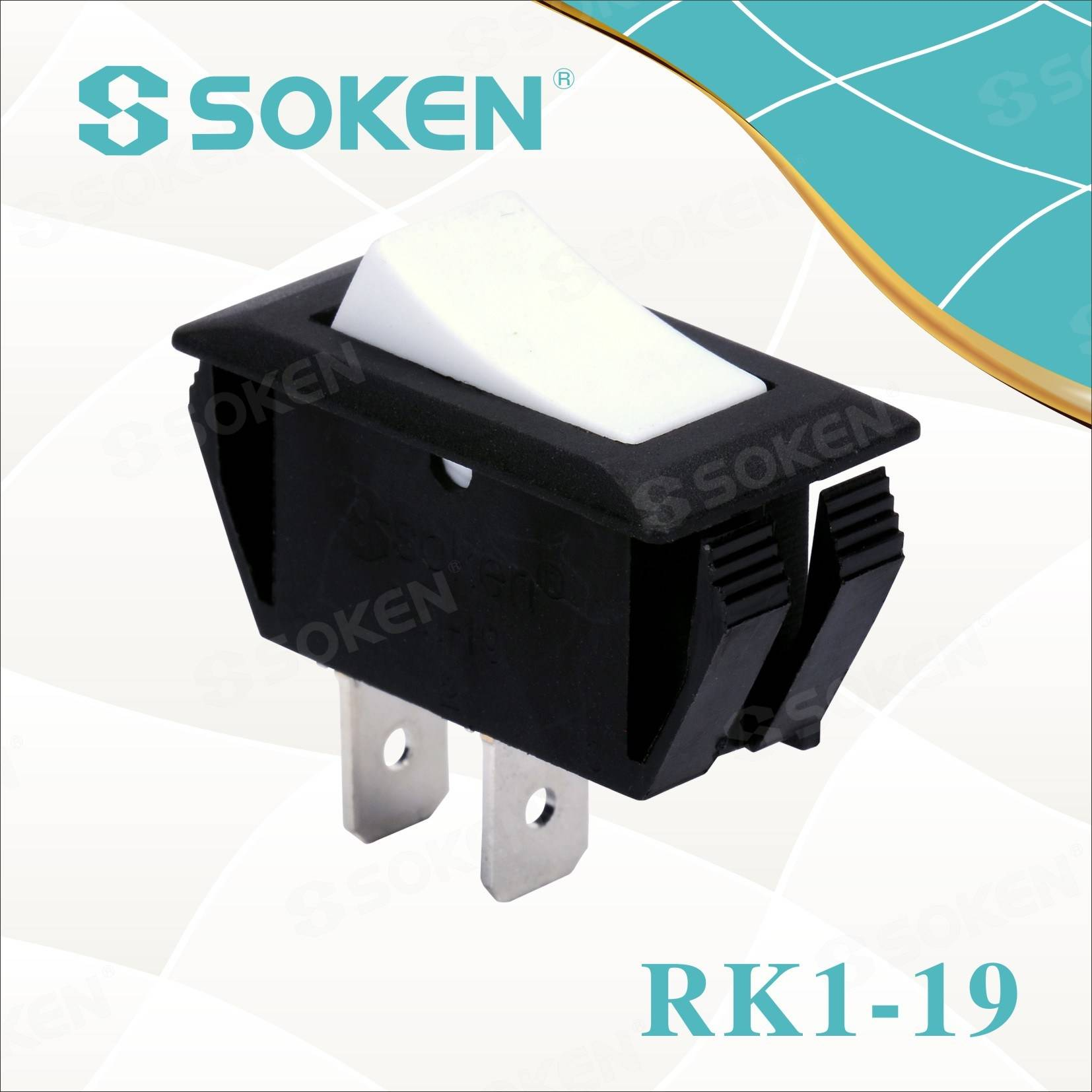Soken 2 Pin Rocker Switch Rk1-19 1x1