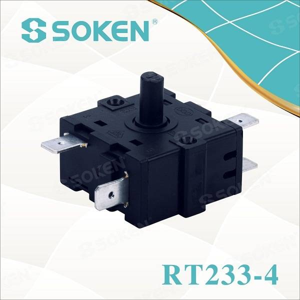 Soken 4 Position Electric Rotary Encoder Switch 16A 250V T100