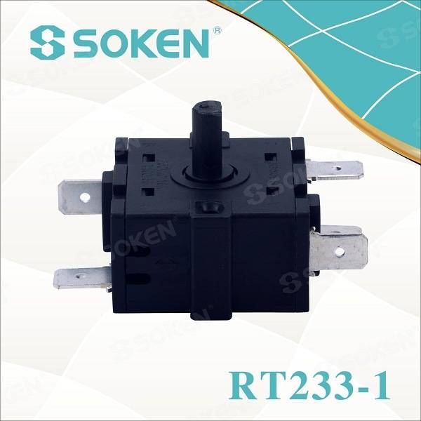 Soken Breams 4 Position Rotary Cam Switch 16A 250V Rt233-1