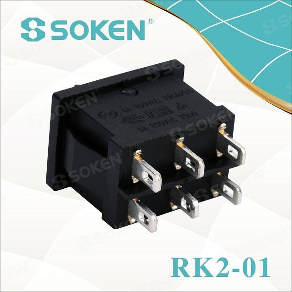 Soken Double Pole TUV VDE ENEC Rocker Switch T85