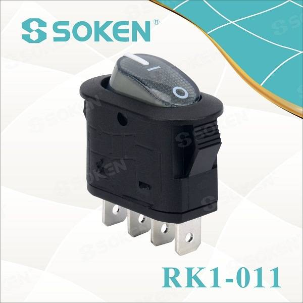 Soken DPST Electrical Appliance Machina rocker switch T100 Capulus / LV