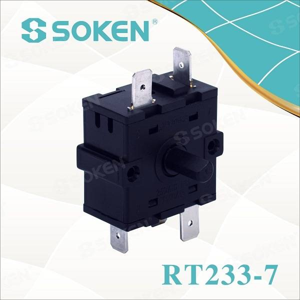 Soken Electric Oven 4 Position Rotary Switch 16A 250V T100