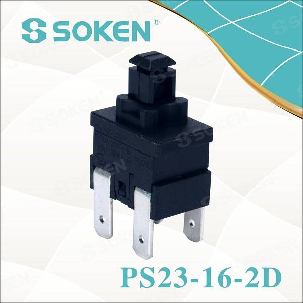 Soken Rectangular Button Push resetten Cambia PS23-16-2D 2 Pulaccu