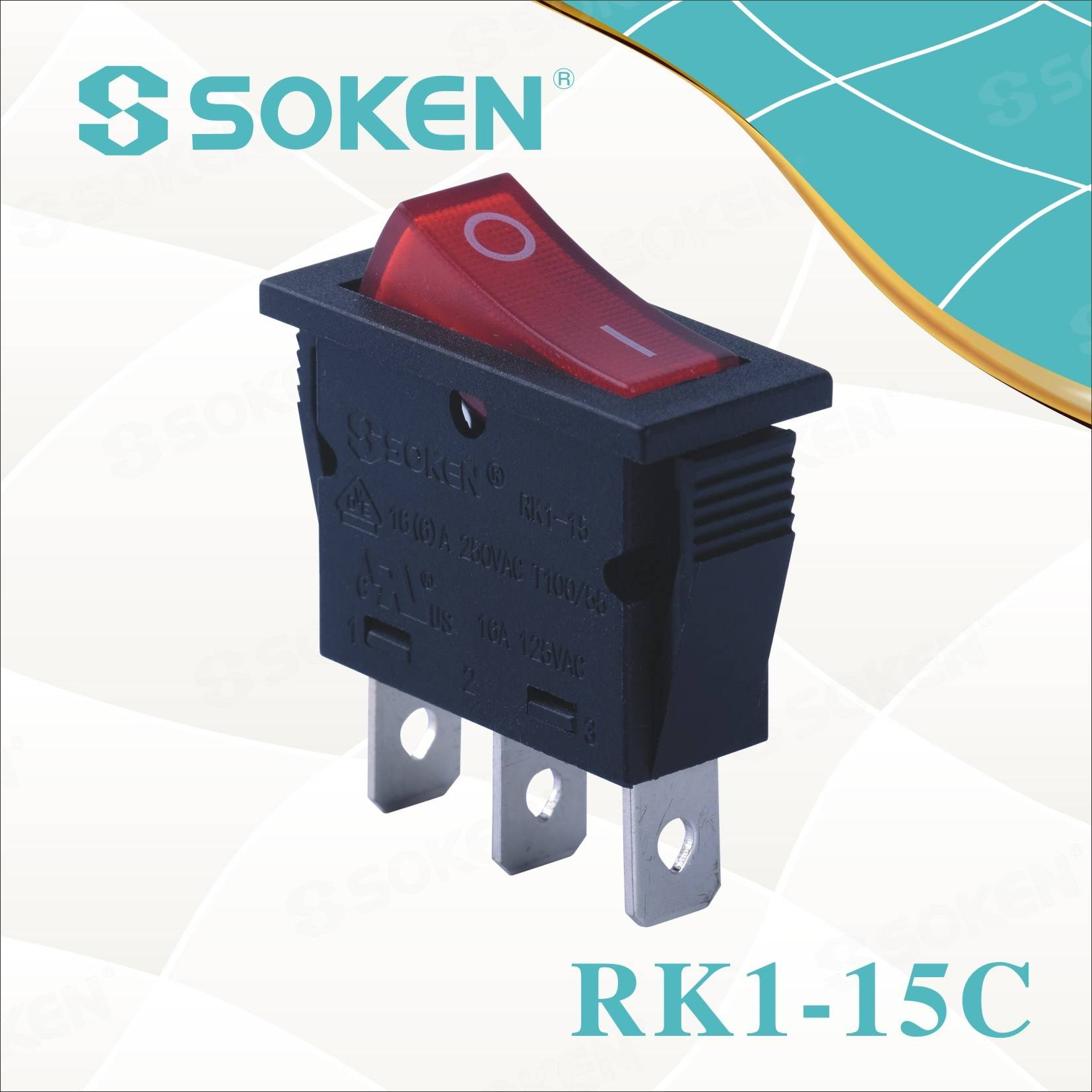 Soken Rk1-15c Auga Rocker Switch Proof