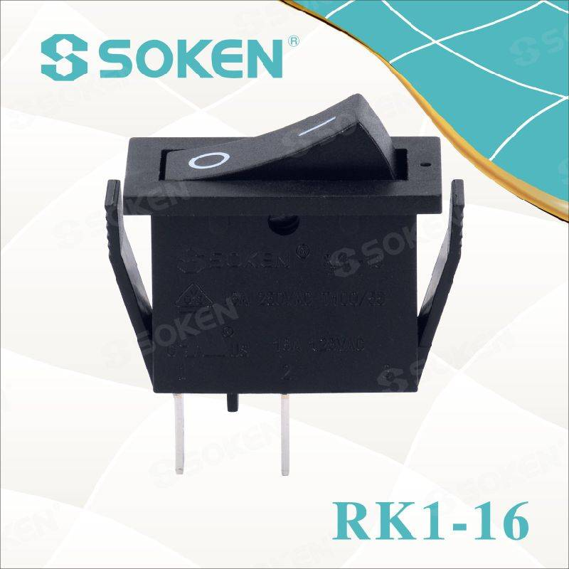 Soken Rk1-16 1X1 B/R on off Rocker Switch