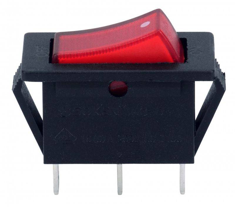 Soken Rk1-17A 1X1n Red on off Illuminated Rocker Switch