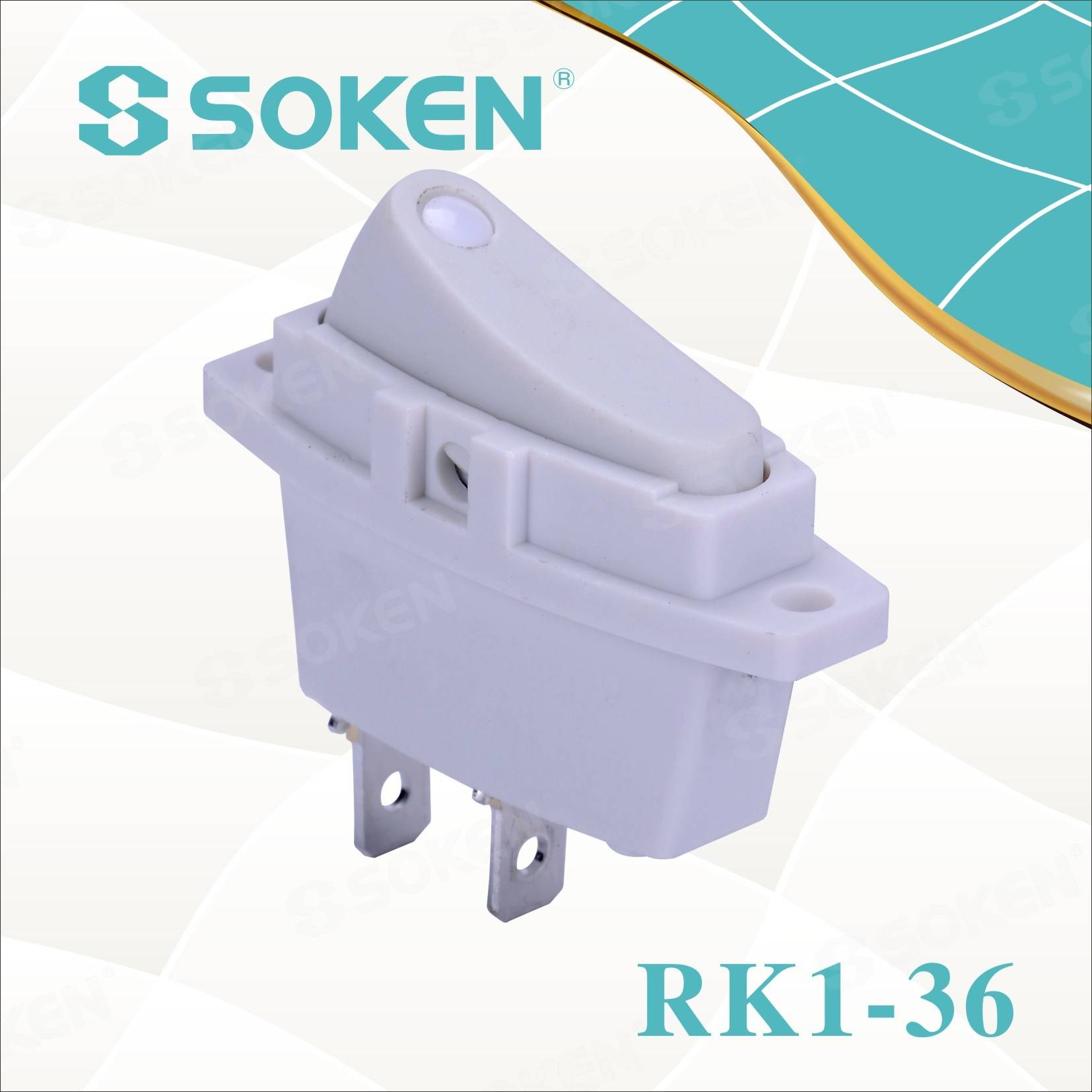 Soken Rk1-36 1X1 վրա off Rocker Switch