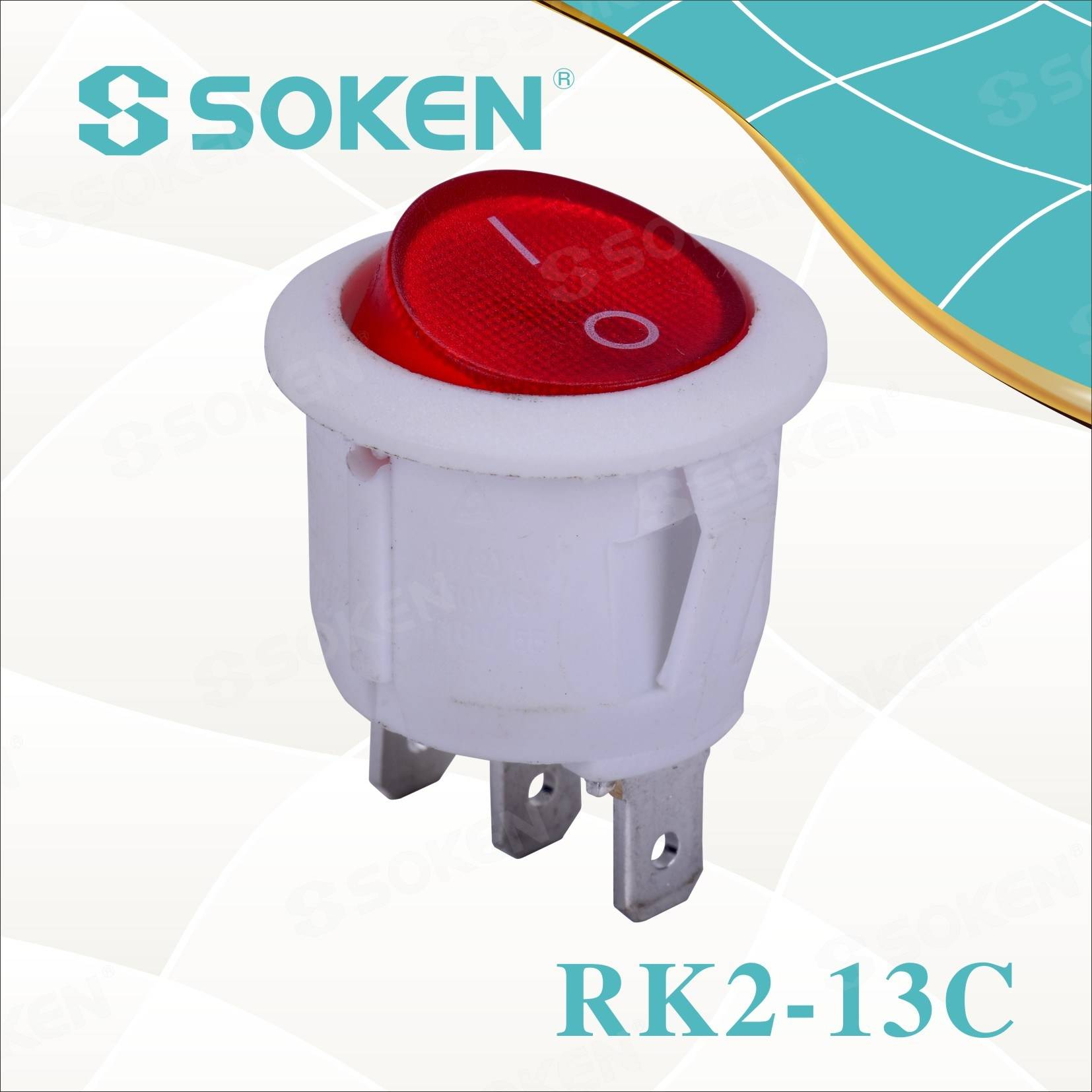 Soken Rk2-13c rodona sobre Rocker Switch off