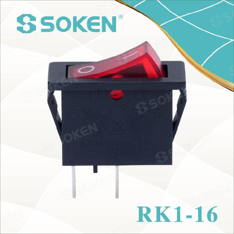 Soken Rocker Switch utan ljus