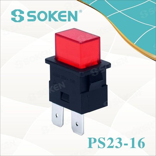 Soken Spst Power Strip Latching Push Button Switch