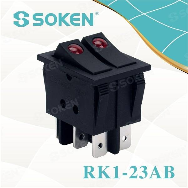 Soken Gwiail CQC T100 / 55 Rocker Switch Kema KEUR Switch