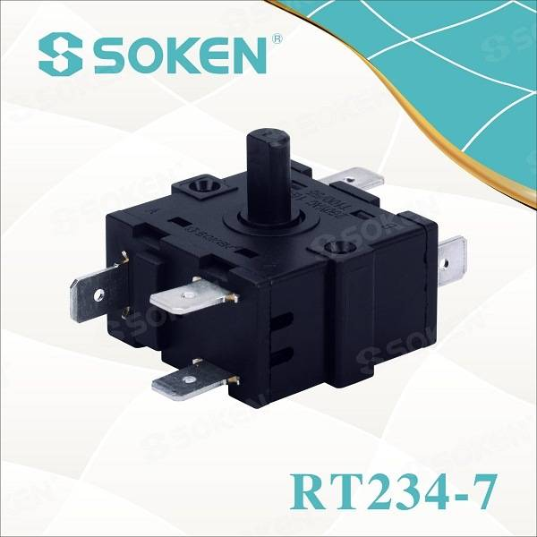 Soken VAC Oven 4 Pole 3 Position Rotary Encoder Switch