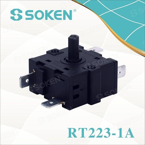 Soken VAC Oven 5 Position Rotary Encoder Switch Ktl 16A