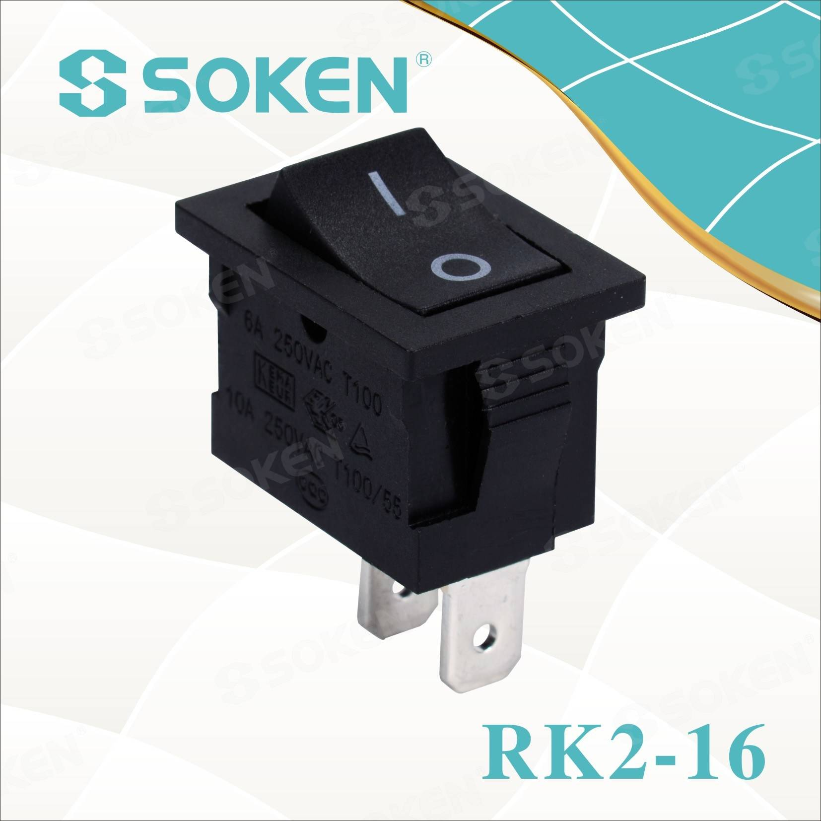 Sokne Rk2-16 1X2 B/B on off Rocker Switch