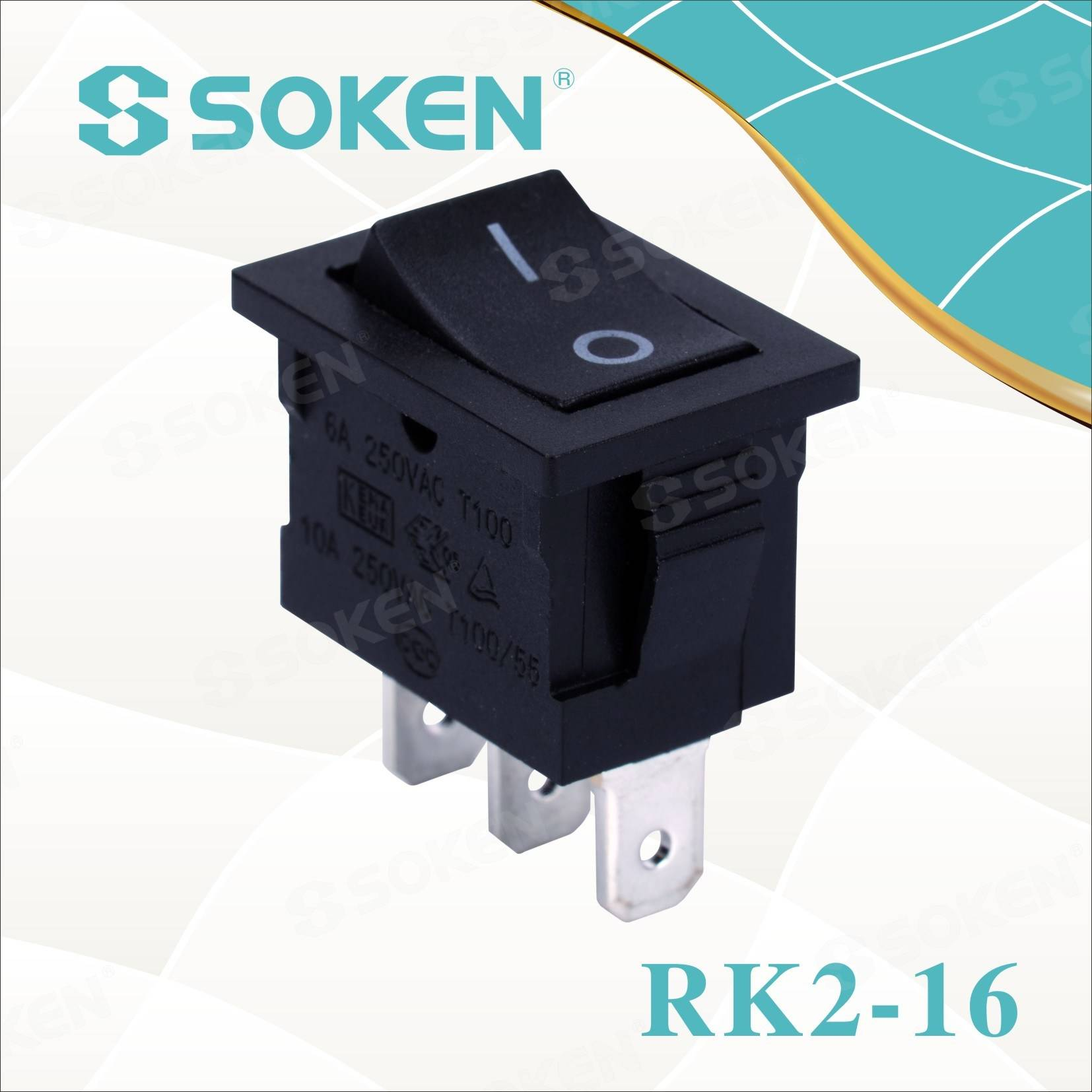 Sokne Rk2-16 1X2 on on Rocker Switch
