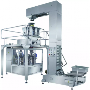 SNACH WAFERS POUCH FILLING SEALING MACHINE SNACK BISCUITS PREMADE POUCH PACKING MACHINE