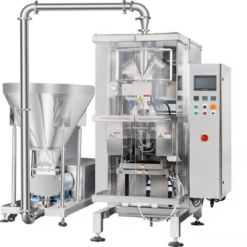 VFFS LIQUID PACKING MACHINE WITH 5KG SAUCE OR PEPPER WITH LIQUID PACKING MACHINE YL400 Featured Image
