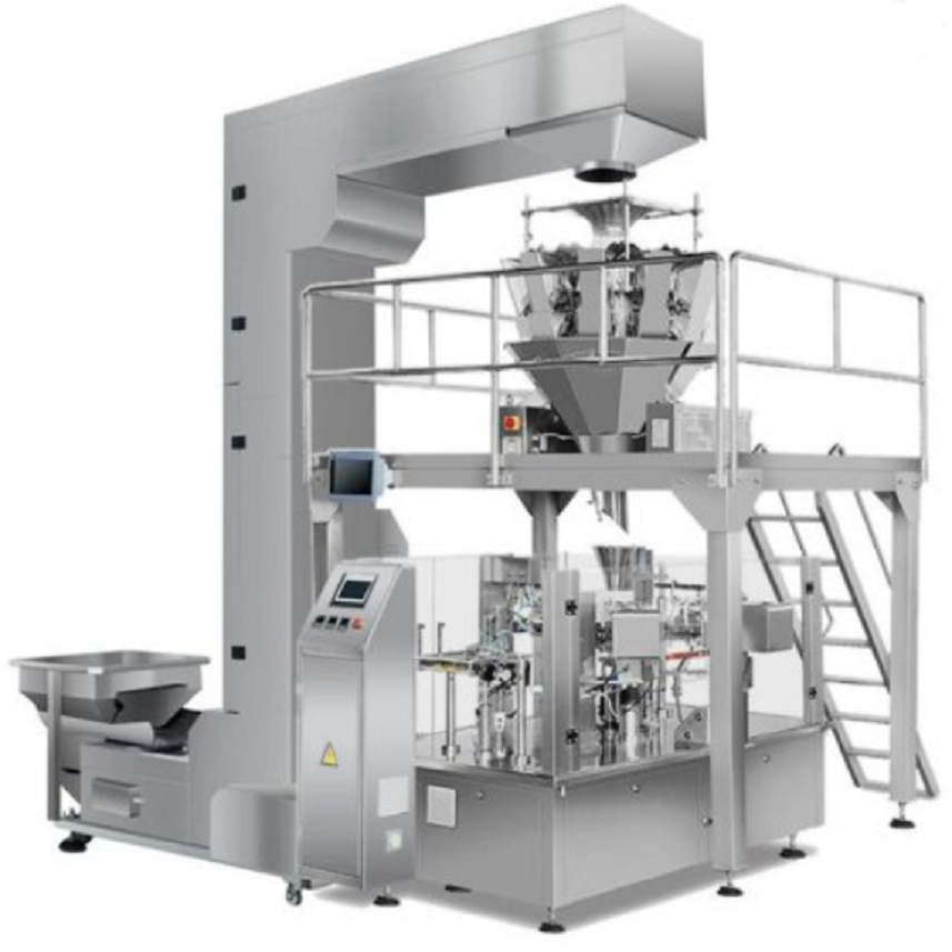 AUTOMATIC ROTARY STAND UP ZIPPER BAG GIVEN DOYPACK DOYBAG WALNUT PEANUT PISTACHIO CASHEW NUTS PACKAGING MACHINE Featured Image
