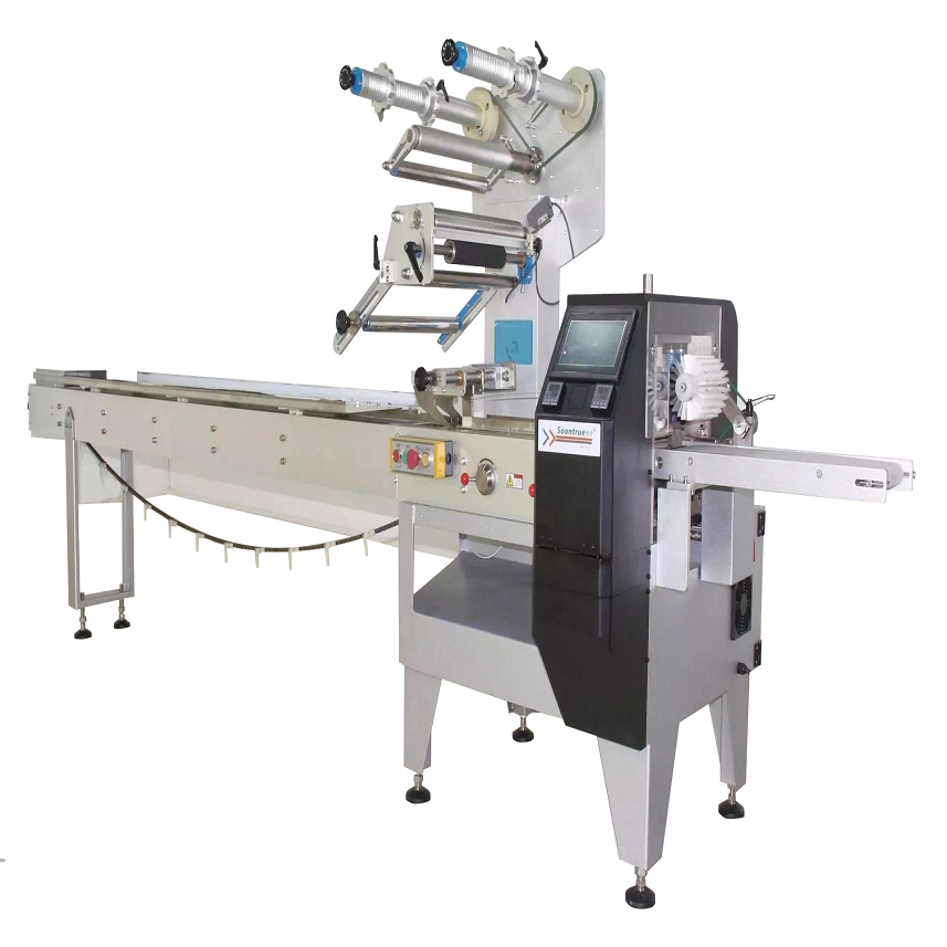 AUTOMATIC BUICUIT/COOKIES/CHOCOLATE BAR HORIZONTAL  PACKING MACHINE SZ180 Featured Image