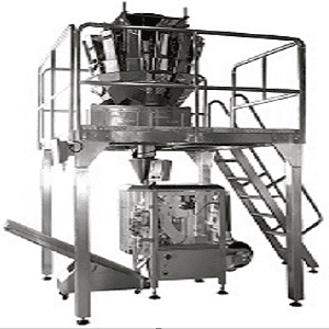 SERVO PACKING MACHINE WITH MULTIHEAD WEIGHER FOR CANDY / NUTS