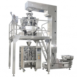 SNACKS POTATO CHIPS PACKING MACHINE FOOD PACKAGING DENGAN ISHIDA MULTI HEAD WEIGHTER