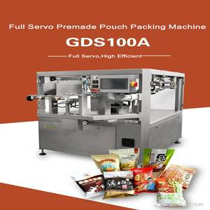 FULL SERVO AUTOMATIC PREMADE POUCH PACKING MACHINE