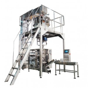 Frozen Food Packing Machine Fish Balls / Meatball / Dumpling Packing Machine With Multihead Weigher