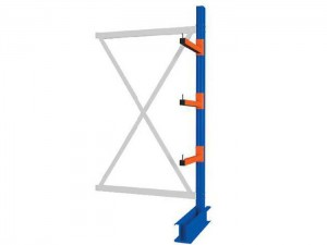 Warehouse Adjustable Single-Sided Cantilever Pallet Racking