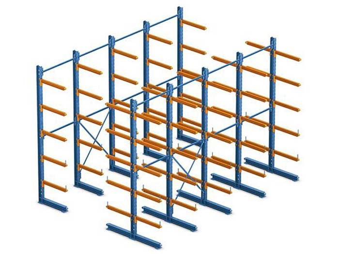 Warehouse Adjustable Single-Sided Cantilever Pallet Racking Featured Image
