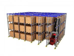 High foltu Storage Drive in Pallet Racking