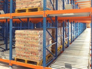 Warehouse Gravity Flow Racking For Carton Storage