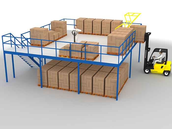How Does The Mezzanine Floor Racking Improve Warehouse Utilization?