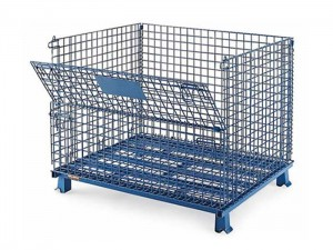 Warehouse Wire Mesh Storage Cage With Wheels