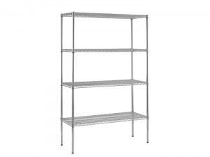 Good quality Wire Mesh Panels - Metal Adjustable Shelf Chrome Wire Shelving – Spieth