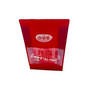 Peanut Plastic Packaging Pouch With Zipper Lock
