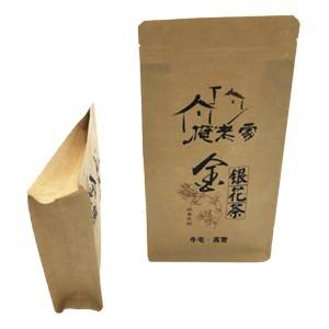 Aluminium Kraft Paper Bag Stand Up Pouch For Tea