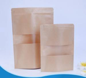 Aluminium Foil Bag With Clear Window For Snack