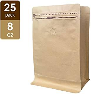 Kraft Paper Pouch With Zipper For 8oz Coffee Featured Image