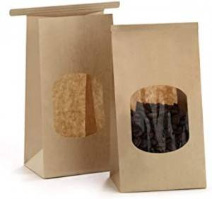 Kraft Paper Flat Bottom Pouch For Coffee Bean