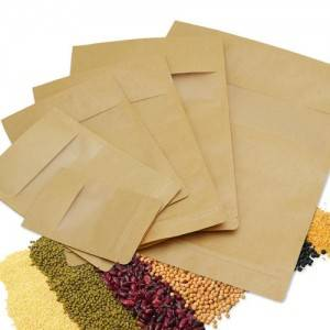 Brown Kraft Paper Pouch With Zipper