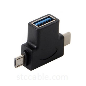 2 in 1 USB 3.1 Type-C & Micro USB 2.0 Combo male to USB 2.0 A Female OTG Data Host Adapter